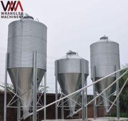 Alimentation en acier galvanisé Silo pour Maison de la volaille de l'agriculture