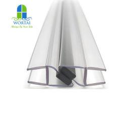 PC スーパークリア防水ゴムシールストリップシャワードアおよびバスルームガラスシール用磁気シールストリップ