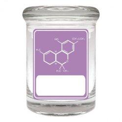 Les bocaux en verre décoratif apothicaire de gros, Glass Jar de mauvaises herbes
