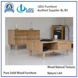 Côté avec tiroir table de salon moderne Set de meubles en bois massif Unique rectangle supérieur Table Table à café thé Tables d'extrémité