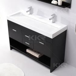 Salle de bains en bois massif et du Cabinet Ware lavabo de la vanité de pierre
