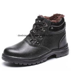 Para el sector industrial de corte alto con la construcción de cuero liso Zapatos de seguridad