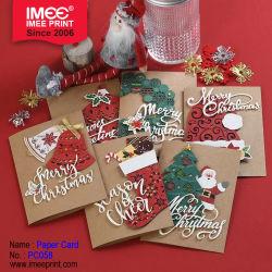 Imee Kraft 종이 크리스마스 카드 공상 디자인 훈장 명랑한 Xmas 크리스마스 인사말 Laser 커트 크리스마스 카드