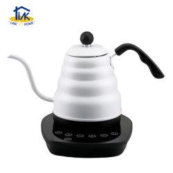 전기 물 주전자 커피는 변하기 쉬운 온도 설정을%s 가진 거위 목 모양의 관 차 남비에 따른다