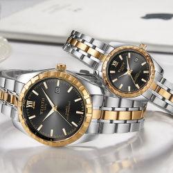 Wlisth Luxus Diamant Edelstahl Paar Quarzuhr
