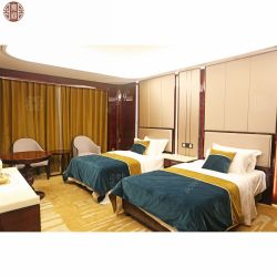 2020 Hotel Design chambre à coucher ensemble pour la vente de meubles haut de gamme de meubles en bois de placage de chêne de l'hôtel Foshan fabrique de meubles