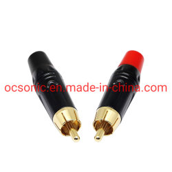 Fio para altifalante de fichas RCA macho Componentes, Gold-Plated Adaptador solda RCA