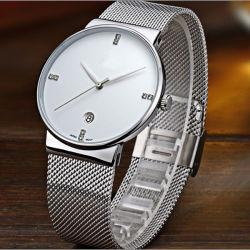 Personalizado de lujo en acero inoxidable de la banda de reloj reloj de pulsera para hombres