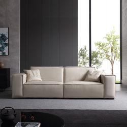 Tela moderna revestimientos Sectional cuero esquina Sofá conjunto Ocio Casa Sofá para muebles de sala de estar