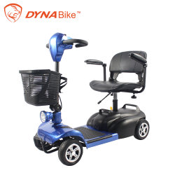 4 Rodas Scooter de mobilidade 12,5Ah 240W da Bateria do Motor Traseiro para mobilidade Electric adulto de triciclo