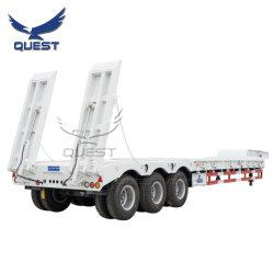 3 차축 80톤 중부하 작업 구스넥 로우 로더/로베드/로보이 굴삭기 운송용 Low Bed Trailer Truck Semi Trailers