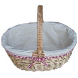 Le saule osier tissé naturel des paniers-cadeaux de stockage