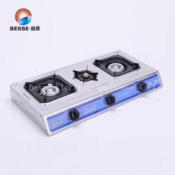 China Barato Painel de aço inoxidável Quadrado Fogão a Gás/fogão com queimadores 2+1 (ZG-3073)