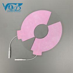 Rosafarbene Abwechslungmassager-Elektroden-Auflage-Selbst-Befolgende körperliche Therapie-Elektroden-Auflagen für Electrotherapy