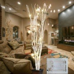 Florais Artificial Branch decoração LED Light
