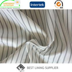 Hot Selling 100 Polyester Black White Sleeve Lining Fabric voor Herenpakken