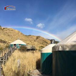 خيمة Yurt Bamboo المنغولية Yurt مقاومة للماء في الهواء الطلق