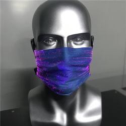 7 LED se encienden las luces de color Máscara recargables USB resplandeciente Mascarilla luminosos para fiesta de Navidad Festival bailando Rave trajes Masquerade