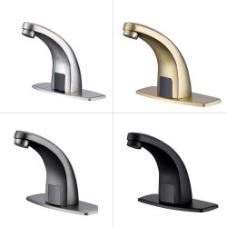 304ステンレス鋼の接触洗面器の浴室のミキサーのコックのためのより少ない金のBalck自動センサー水蛇口