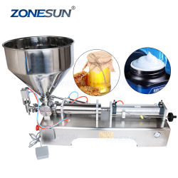 ZONESUN Machine de remplissage semi-automatique de pâte de piston machine de remplissage de remplissage de pommade de remplissage de pâte