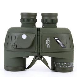 Berufsleistungsfähige grüne optische überzogene Jagd-Weitwinkelbinokel 10X50 mit Prisma Bak4