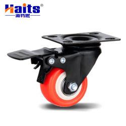 Roulette industrielle de la plaque pivotante avec frein de roulettes PVC
