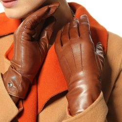 100%の純粋なカシミヤ織によって並べられるタッチスクリーンの暖かい運転の女性の皮手袋