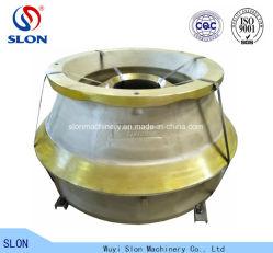 L'acier au manganèse MP1000 pièces de rechange concasseur à cônes manteau et le contre-batteur