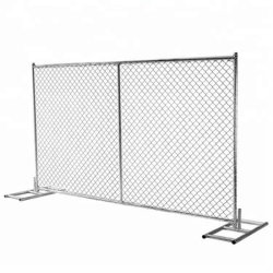 L'Amérique en acier de conception de Wire Mesh Jardin de maillon de chaîne temporaire clôture de sécurité