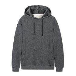 Qualität normale unbelegte Hoodies Baumwolle 100% mit seitlichen Taschen