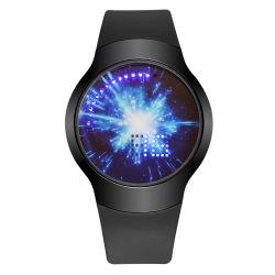 Modieuze Aangepast LEIDEN Horloge met het Geval van de Legering en de Band van het Silicone (jy-SD005)