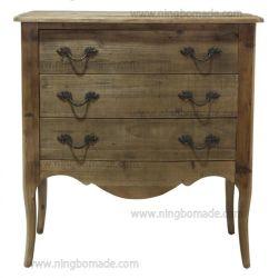 Antike nordische klassische Möbel-dunkle natürliche bereiten Fach-Brust des Tannen-Holz-drei auf