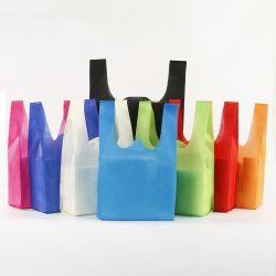 Eco friendly reciclar no tejido de punto de Promoción de la bolsa de compras