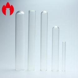 Claro Ronda o tubo de ensayo de vidrio de laboratorio plana