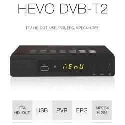 FTA DVB-T2, H. 264 decodificador MPEG4/receptor de televisión