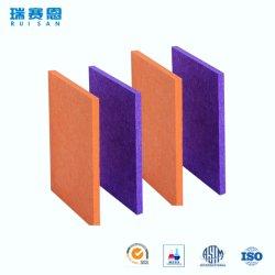Полиэфирные волокна 3D звуконепроницаемые стены и потолок здания декоративных материалов ПЭТ Акустические панели