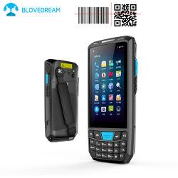 WiFi GSMの電話Bluetoothの手持ち型の第2タッチ画面のバーコードのスキャンナー人間の特徴をもつPDA