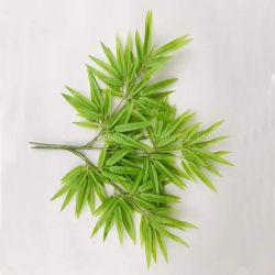 밝은 초록색 실제적인 접촉 조경 훈장을%s 플라스틱 인공적인 대나무 나무 잎