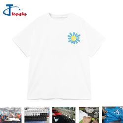 두껍게 OEM/ODM 면 백색 실크 스크린에 의하여 인쇄되는 짧은 소매 Loost 적당한 티 셔츠