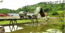 60t отслеживание нагрузки тяжелых механизированных / Мост в чрезвычайных ситуациях для малых и средних рек