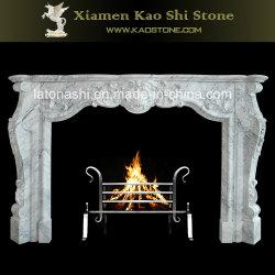 Естественный белый мраморный камин Mantel/вокруг украшения