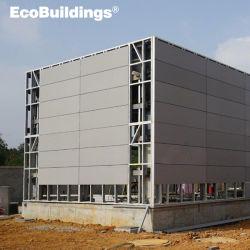 Fácil de instalar la luz de la casa de gama alta de color gris acero prefabricados Panel de pared conciso en edificios comerciales