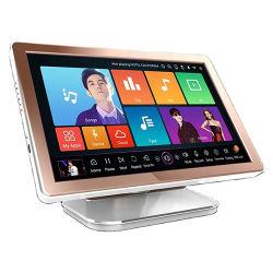 1080p HD плеер караоке Караоке системы пение 19 дюйма все в один жесткий диск плеера с 40W+ песни караоке и сенсорного экрана плеера