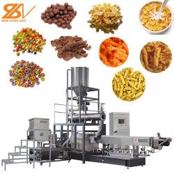 Granoturco scaglie prima colazione cereali Kurkure Cheetos estrusore macchina per la produzione Linea di elaborazione