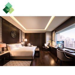 het vijfsterren Volledige Meubilair van het Tweepersoonsbed van de Grootte van de Koning van de Luxe Moderne Stevige Houten die voor de Slaapkamer van het Hotel wordt geplaatst