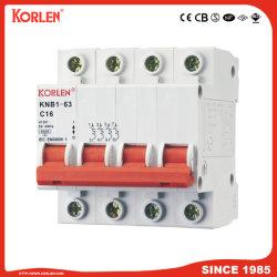 고품질 소형 회로 차단기 MCB(KNB1-63) CE RoHS CCC