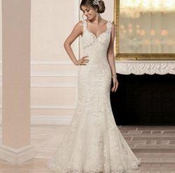 Neue Art-reizvolles Form-Spitze-Brautkleid-Fischschwanz-Hochzeits-Kleid