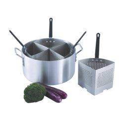 Aluminium Topf Set Noodle Steamer Pasta Topf mit Edelstahl Siebeinsatz