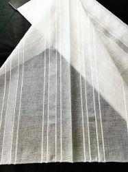 Hometextil Polyester mit Silber Metallic Garn gemacht Sheer Look Vorhang Stoff