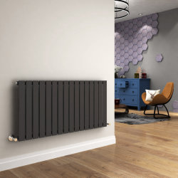 Radiador horizontal plana - Moderno Calefacción radiador permite ahorrar espacio.